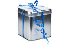 prezenta pudełkowaty srebro Obraz Royalty Free