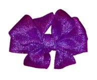 Prezenta purpurowy łęk Zdjęcie Stock