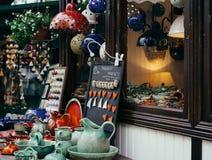 Prezenta sklepu gablota wystawowa Obrazy Royalty Free
