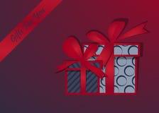 Prezenta tło wesołych Świąt Pudełko z świątecznym Szczęśliwym nowym rokiem również zwrócić corel ilustracji wektora royalty ilustracja