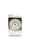 Prezenta termometr w metal skrzynce fotografia stock