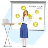 prezentaci biznesowa robi kobieta wektor royalty ilustracja
