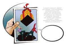 Prezentaci template Ogromny spada prezent ilustracja wektor