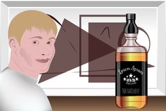 Prezentacja alkoholiczni napoje Projekta studio szablonu przygotowanie wektor Zdjęcie Stock