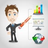 Prezentacja biznesmen  Obraz Stock