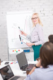 Prezentacja biznesowa kobieta obrazy stock
