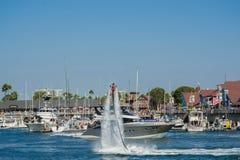 Prezentacja flyboard w Long Beach Fotografia Stock