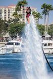 Prezentacja flyboard w Long Beach Zdjęcie Royalty Free