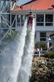 Prezentacja flyboard w Long Beach Zdjęcia Royalty Free