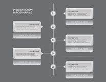 Prezentacja Infographics Obraz Royalty Free