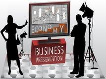 prezentacja jednostek gospodarczych ilustracja wektor