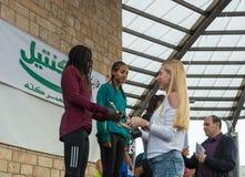 Prezentacja niezapomniane filiżanki zwycięzcy rocznik rasy ` boże narodzenia Biega ` w Mi ` ilya w Izrael Zdjęcie Royalty Free