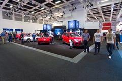 Prezentacja nowy producent samochodów Mazda Obraz Stock