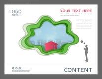 Prezentacja projekta szablon, miasto budynki i nieruchomości pojęcie, Wektorowy nowożytny tło ilustracja wektor