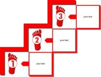 Prezentacja schemata trzy kroki Zdjęcie Stock
