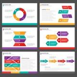 6 prezentacja szablonów Infographic elementsflat Abstrakcjonistyczny projekt ustawia dla broszurki ulotki ulotki marketingu Fotografia Stock