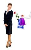 prezenty dają mężczyzna kobieta Fotografia Stock