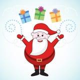 prezenty Santa royalty ilustracja