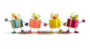 prezenty szczęśliwi Obrazy Stock