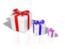 prezenty trzy Obrazy Stock