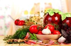 prezerwa domowej roboty pomidory Fotografia Royalty Free
