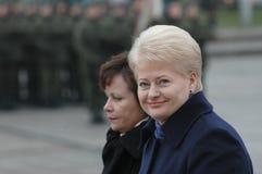 Prezident de Lituania Dalia Grybauskaite fotos de archivo libres de regalías