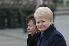 Prezident della Lituania Dalia Grybauskaite Fotografie Stock Libere da Diritti