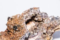 Prezioso minerale di colore di Kupferkies della pietra preziosa del gioiello variopinto della gemma Immagine Stock