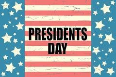 Prezydenci dni na Amerykańskim tle Zdjęcia Stock