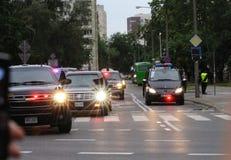 Prezydencka kawalkada samochodów Fotografia Stock