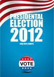 prezydencki wybory plakat Fotografia Royalty Free