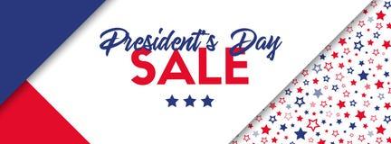 Prezydentów dni sprzedaży sztandar royalty ilustracja