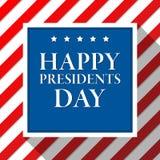 Prezydentów dni wektoru tło kolor amerykańska flaga USA patriotyczny szablon Ilustracja z lampasami i gwiazdami ilustracji