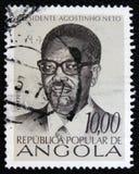 Prezydent Agostinho Neto około 1976, Fotografia Stock
