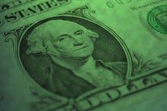 Prezydent Ameryka George Washington na jeden dolarowym rachunku Zdjęcia Stock