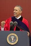Prezydent Barack Obama mówi przy 250th Rocznicowym Rutgers uniwersyteta początkiem Fotografia Stock