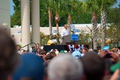 Prezydent Barack Obama Wrzesień 8, 2012 Floryda zdjęcie royalty free