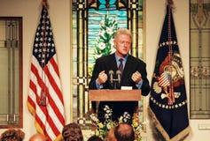 Prezydent Bill Clinton zdjęcia stock