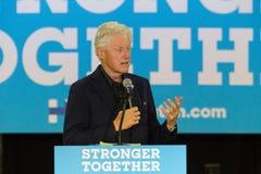 Prezydent Bill Clinton prowadzi kampanię dla Hillary Obrazy Royalty Free