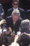 Prezydent Bill Clinton spotyka tłumu Fotografia Stock
