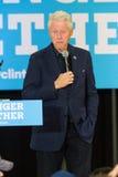 Prezydent Clinton prowadzi kampanię dla Hillary Obraz Stock