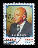 Prezydent De Klerk, seria, około 1989 Zdjęcie Stock