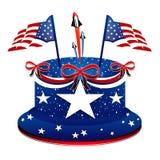 Prezydent dzień - Patriotyczny tort Zdjęcia Stock