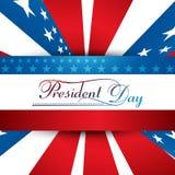 Prezydent dzień w Stany Zjednoczone Ameryka z kolorowym Obraz Royalty Free