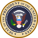 prezydent foka usa Obrazy Royalty Free