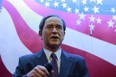Prezydent George w. krzaka wosku postać zdjęcia stock