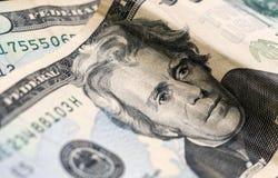 Prezydent Jackson, dwadzieścia dolarów rachunków USA papierowy pieniądze zdjęcie royalty free