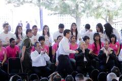 Prezydent Meksyk, Enrique Peña Nieto Zdjęcia Stock