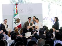 Prezydent Meksyk, Enrique Peña Nieto Obrazy Royalty Free