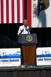 Prezydent Obama mówi przy 20th Rocznym Jeziornym Tahoe szczytem 26 Fotografia Royalty Free